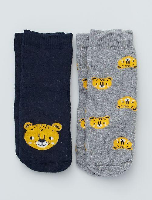 Set di 2 paia di calzini antiscivolo                                                                                                                 grigio