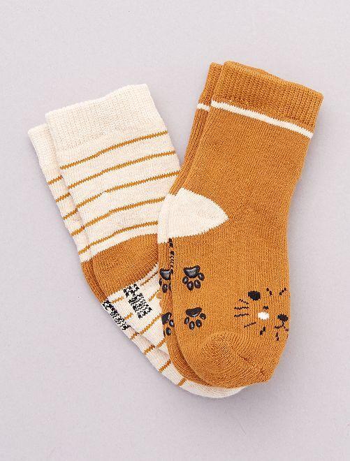 Set di 2 paia di calzini antiscivolo                                                                                                                 leone