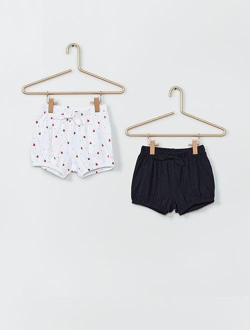 Set di 2 shorts                                         BIANCO