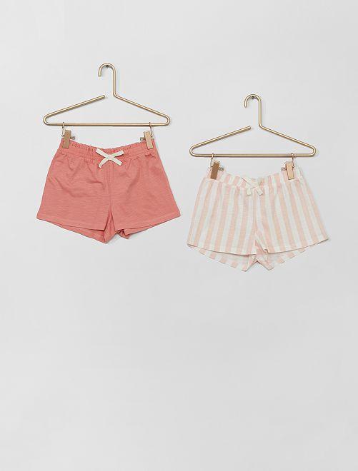 Set di 2 shorts                                                                                         ROSA