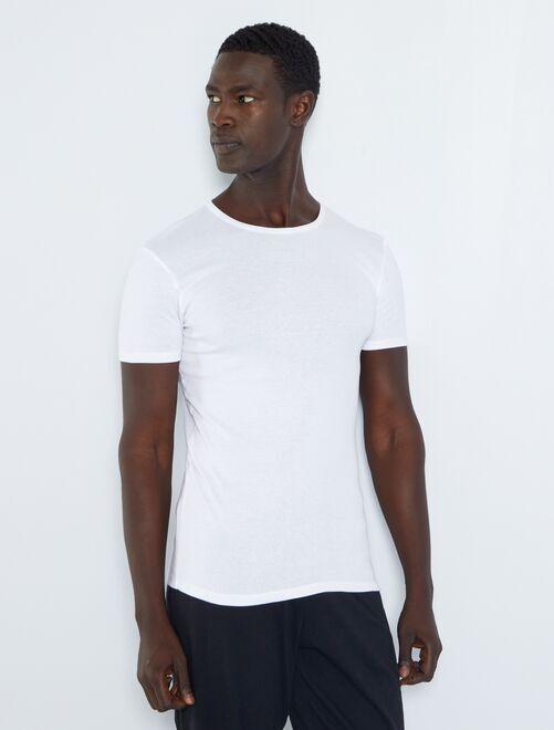 Set di 2 t-shirt eco-sostenibili                             bianco