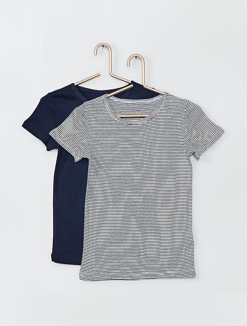 Set di 2 t-shirt eco-sostenibili                                         BLU