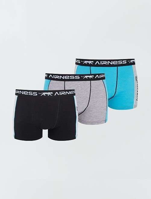 Set di 3 boxer 'Airness'                                         BLU