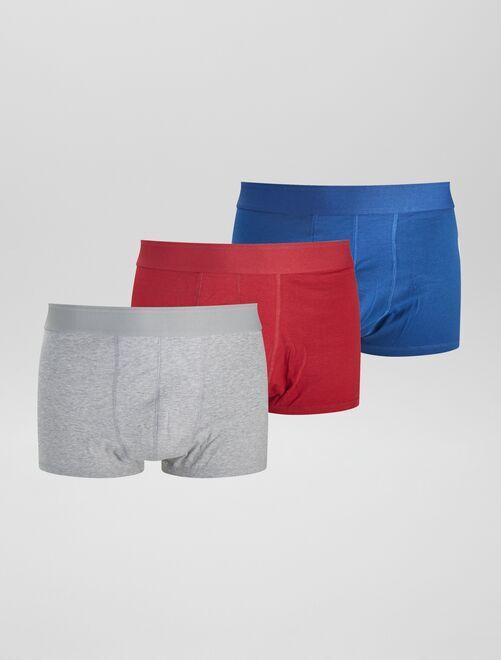 Set di 3 boxer eco-sostenibili size+                                                     ROSSO