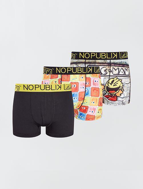 Set di 3 boxer 'Pac-Man' 'No Publik' -                             multicolore