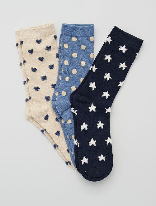 Set di 3 calzini                                         BEIGE