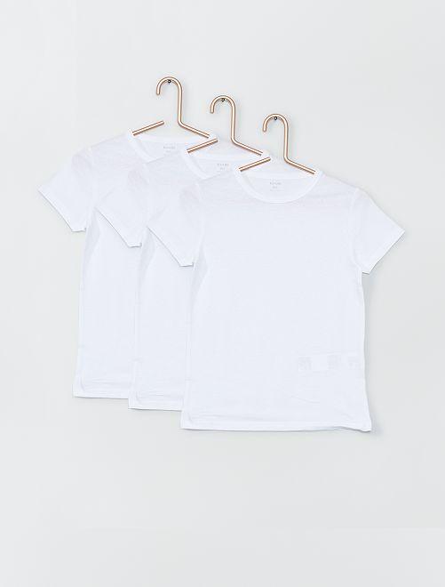 Set di 3 magliette intime eco-sostenibili                             bianco