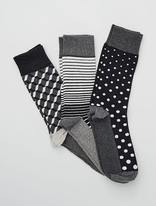 Set di 3 paia di calzini                                         a righe