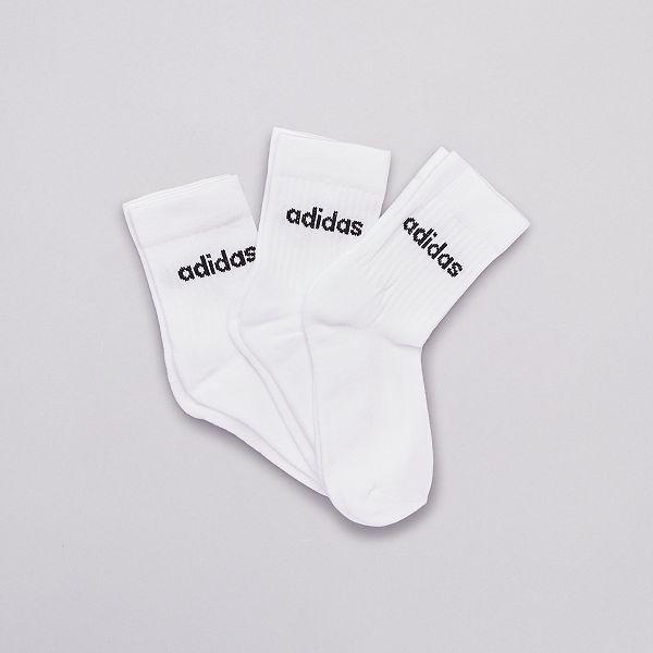 scorta Grande quantità Prova  Set di 3 paia di calzini alti 'adidas' Uomo - BIANCO - Kiabi - 10,00€