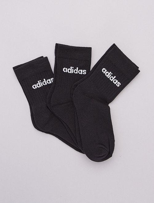 Set di 3 paia di calzini alti 'adidas'                             NERO
