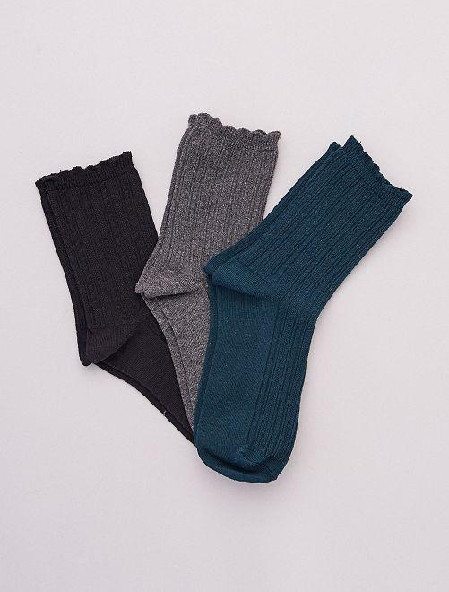 Set di 3 paia di calzini caldi                             VERDE