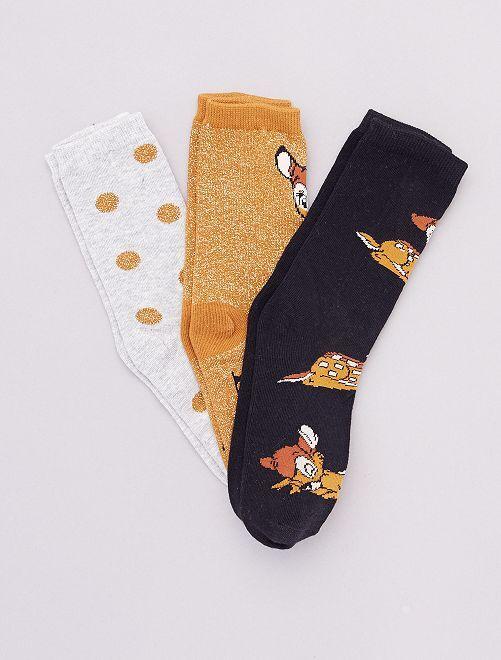 Set di 3 paia di calzini 'Disney'                                             BEIGE