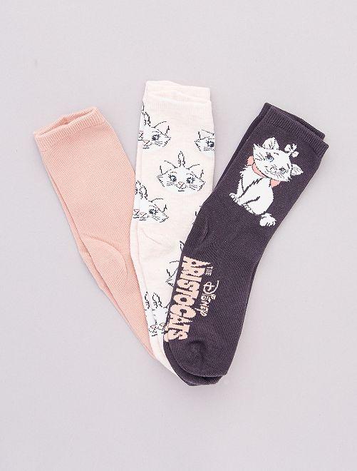 Set di 3 paia di calzini 'Disney'                                                                 ROSA