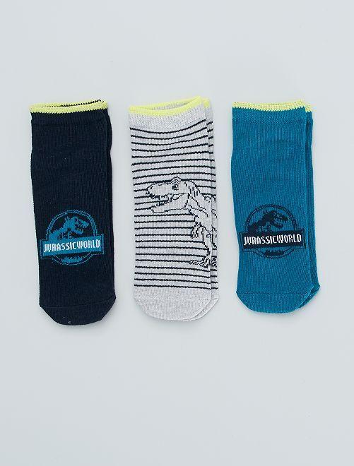 Set di 3 paia di calzini 'Jurassic world'                             BIANCO