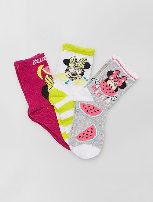 Set di 3 paia di calzini 'Minnie' di 'Disney'                                         BIANCO