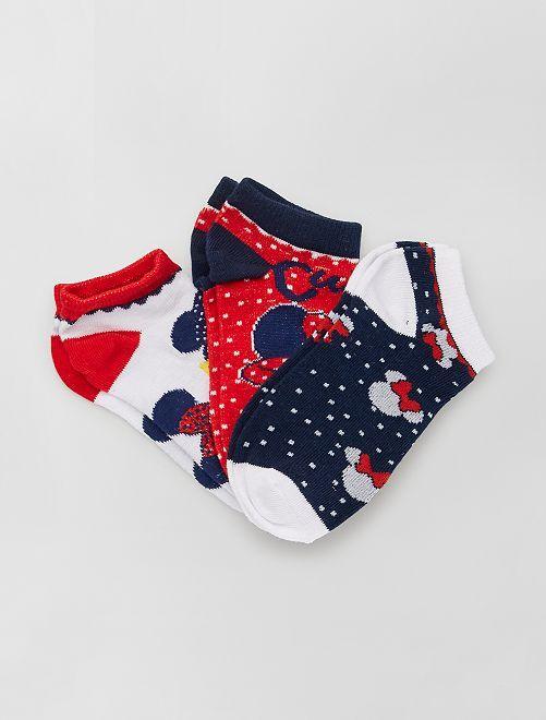 Set di 3 paia di calzini 'Minnie' 'Disney'                                         BIANCO
