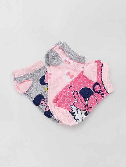 Set di 3 paia di calzini 'Minnie' 'Disney'                                         ROSA
