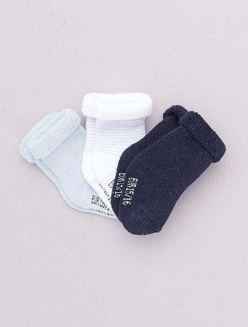 Set di 3 paia di calzini per neonato                                                                             BLU