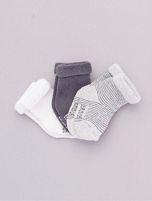 Set di 3 paia di calzini per neonato                                                                 GRIGIO
