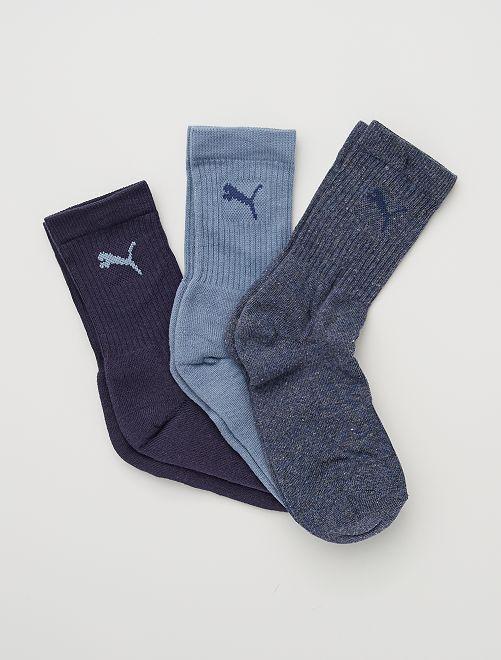 Set di 3 paia di calzini 'Puma'                                                                 BLU