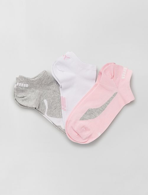 Set di 3 paia di calzini 'Puma'                                                     ROSA