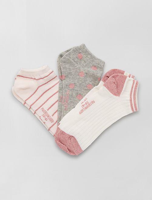 Set di 3 paia di calzini                                         rosa