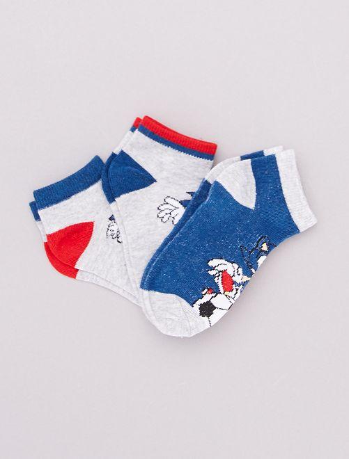 Set di 3 paia di calzini 'Sonic'                             BLU