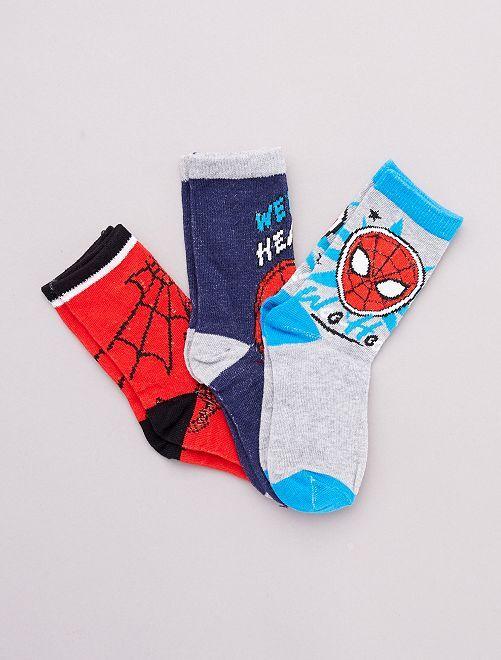 Set di 3 paia di calzini 'Spider-Man' 'Marvel'                                         GRIGIO