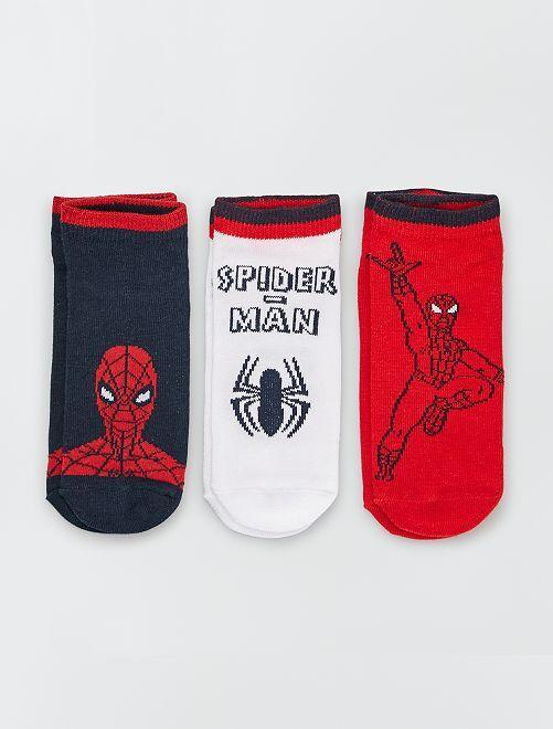Set di 3 paia di calzini 'Spider-Man'                             NERO/rosso