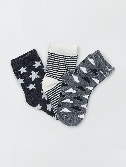 Set di 3 paia di calzini stampati                                         stella