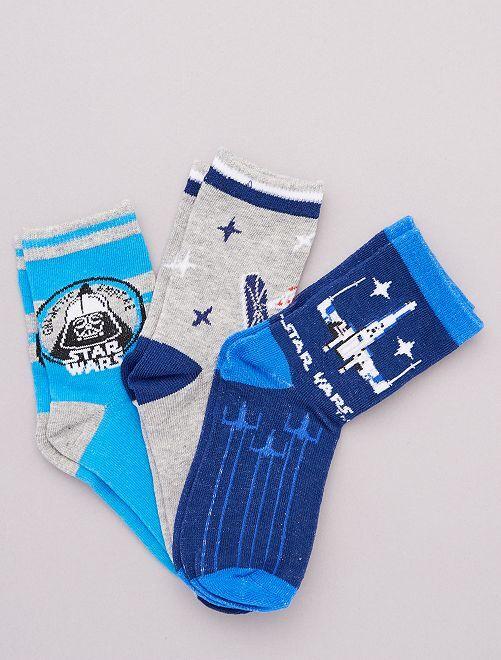 Set di 3 paia di calzini 'Stars Wars'                                         BLU