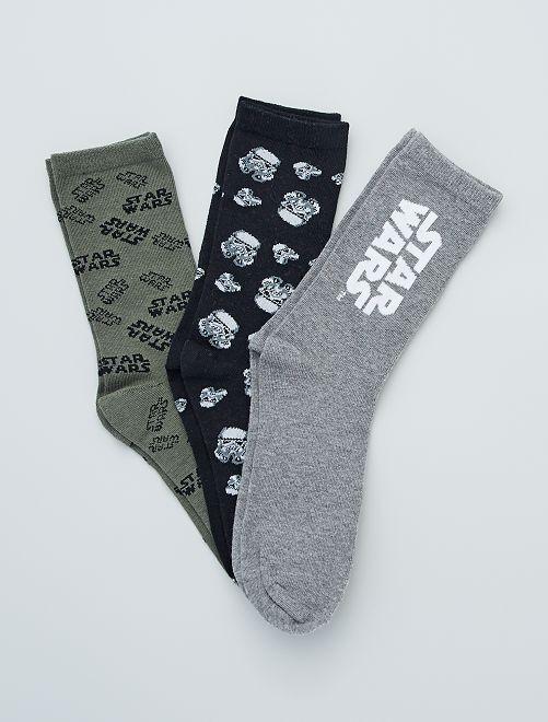 Set di 3 paia di calzini 'Stars Wars'                             GRIGIO