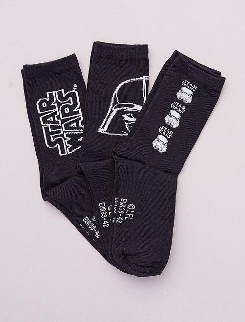 Set di 3 paia di calzini 'Stars Wars'                             NERO