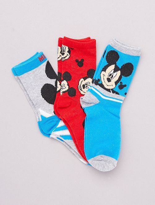Set di 3 paia di calzini 'Topolino' 'Disney'                                         BLU