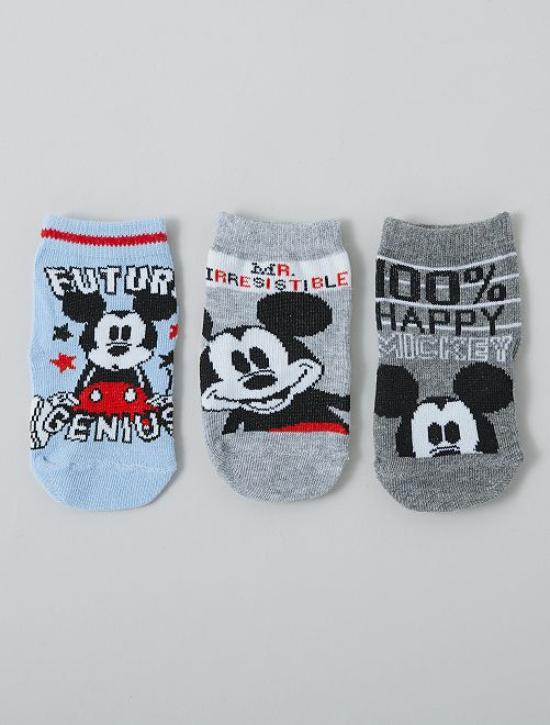 Set di 3 paia di calzini 'Topolino' 'Disney'                                         GRIGIO