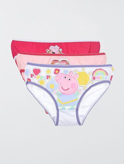 Set di 3 slip! 'Peppa Pig'                             ROSA