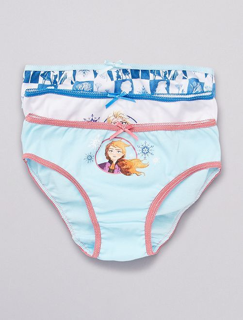 Set di 3 slip 'Reine des Neiges II'                             blu/bianco