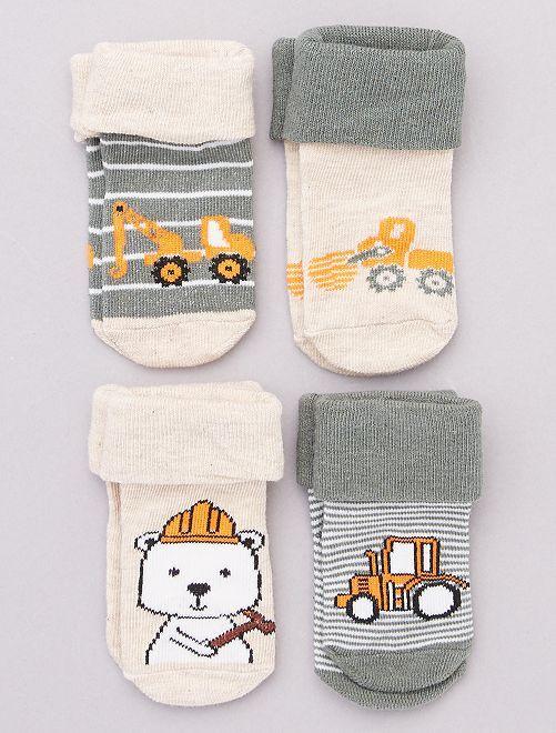 Set di 4 paia di calzini                                         grigio
