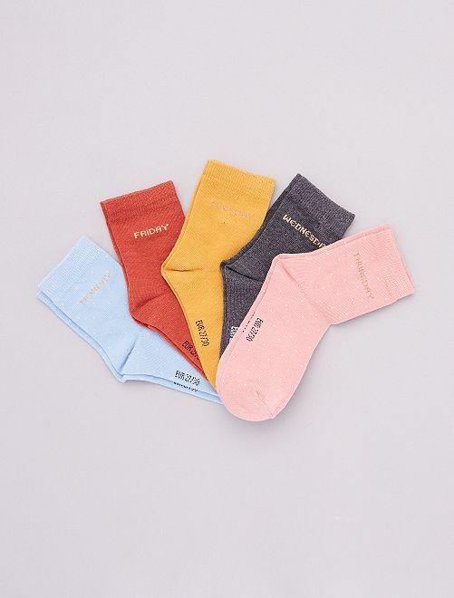 Set di 5 paia di calzini                             BLU