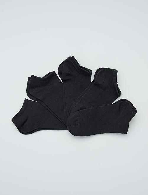 Set di 5 paia di calzini corti                                         nero