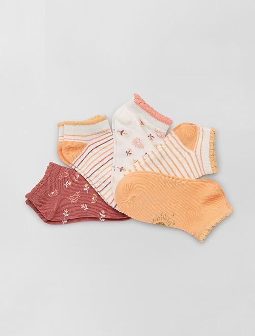 Set di 5 paia di calzini eco-sostenibili                                                                             ARANCIONE