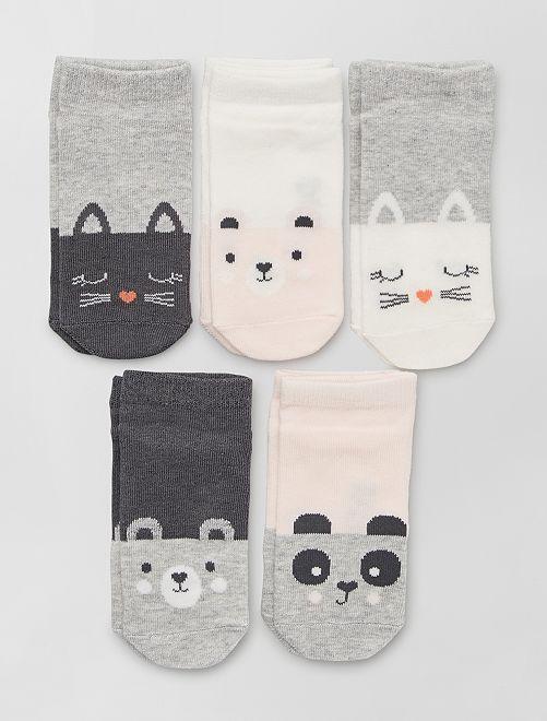 Set di 5 paia di calzini eco-sostenibili                                                                             BIANCO