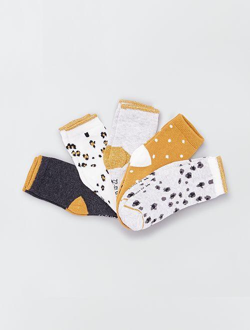 Set di 5 paia di calzini eco-sostenibili                                                                                                                 GIALLO