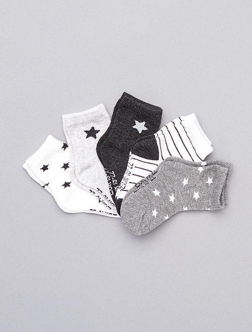 Set di 5 paia di calzini eco-sostenibili                                                                                                                                         GRIGIO