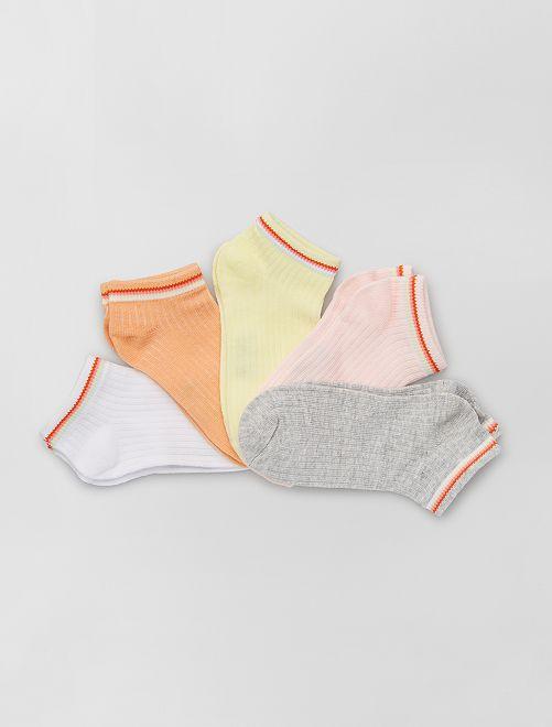 Set di 5 paia di calzini eco-sostenibili                             ROSA