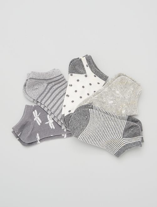 Set di 5 paia di calzini                                         grigio