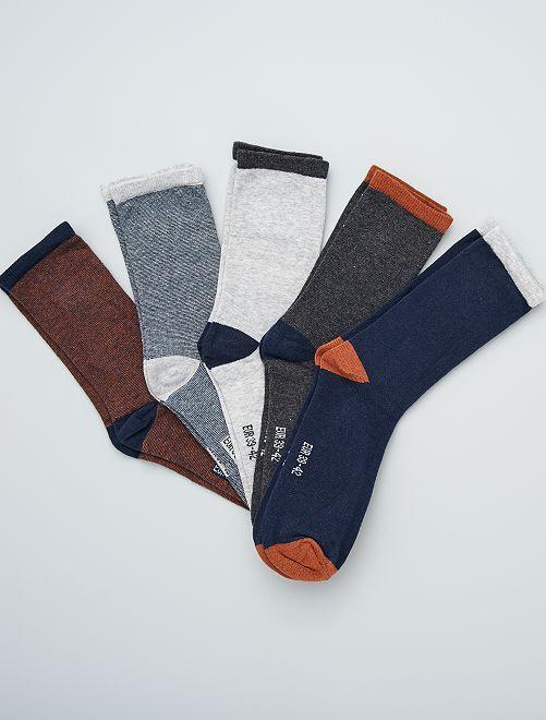 Set di 5 paia di calzini                                                     MARRONE