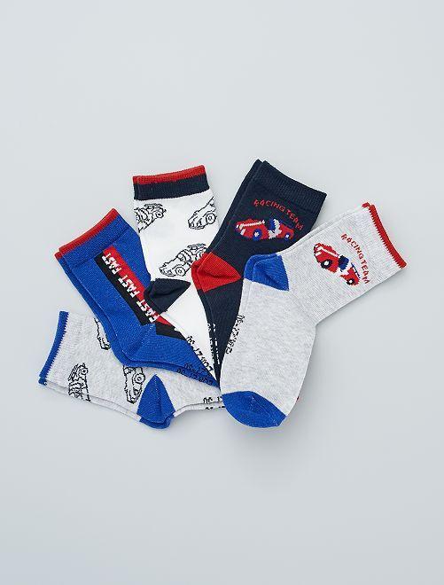 Set di 5 paia di calzini stampati                                                                                                     BLU