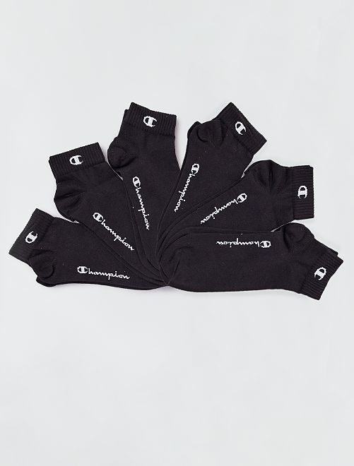 Set di 6 paia di calzini 'Champion'                                                     nero