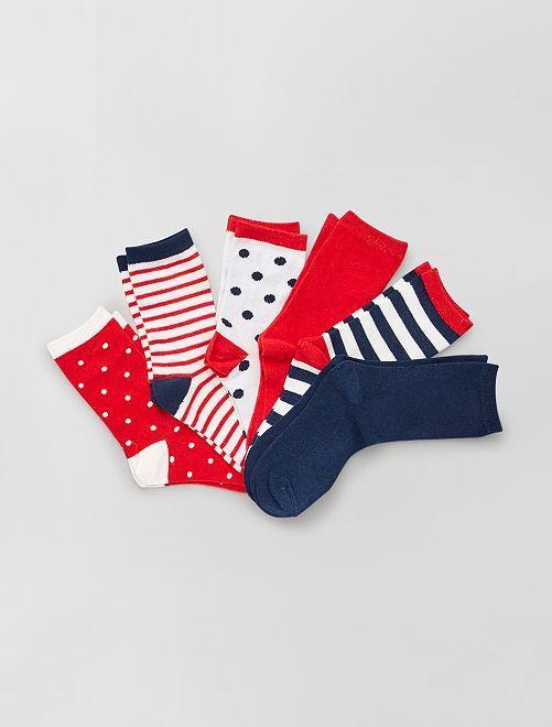 Set di 6 paia di calzini                                         ROSSO